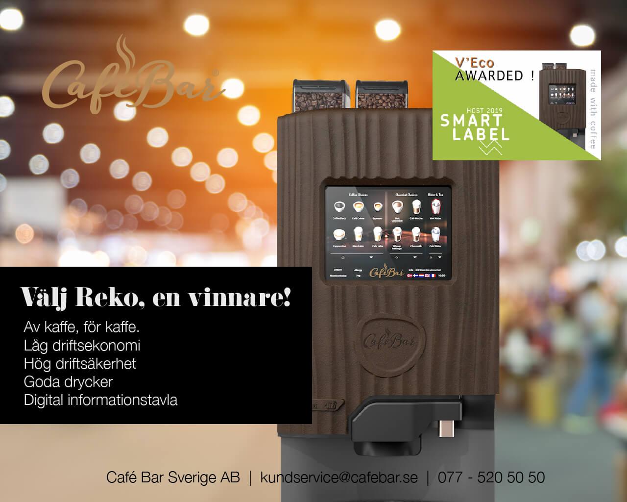 Bli en vinnare du med! Välj Reko kaffemaskin