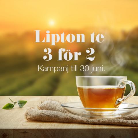 Lipton te – 3 för 2